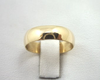 NEW Solid 10K Yellow Gold Plain Wedding Engagement Band/Ring 5mm, Sizes 3 - 15