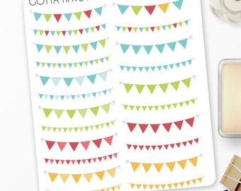Planner Stickers Triangle Banner for Erin Condren, Happy Planner, Filofax, Scrapbooking