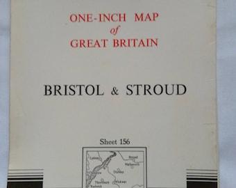 Vintage Ordnance Survey Map Bristol& Stroud.  No. 156.    1967