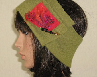boiled wool ear warmer headband