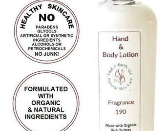 Compare to Chanel No. 19 Type - 190 Hand & Body Lotion 79% Organic