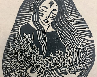 Freya Lino Print