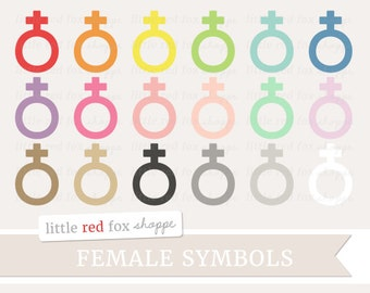 Female Symbol Clipart, Gender Icon Clip Art Woman Baby Girl Label Frame Element Feminine Cute Digital Graphic Design Small Commercial Use