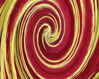 Swirled Coleus - Home Decor Print/Contemporary Print/Abstract Art/Wall Art