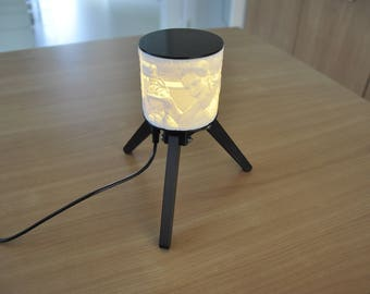 Unique personalized tablelamp nightlight - light your picture