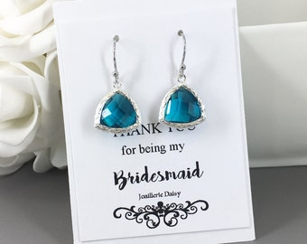 Clearance Turquoise Earrings Bridesmaid Earrings Bridesmaid Gift Wedding Dangle Earrings Gift for Her Wedding Jewelry Gift under 10