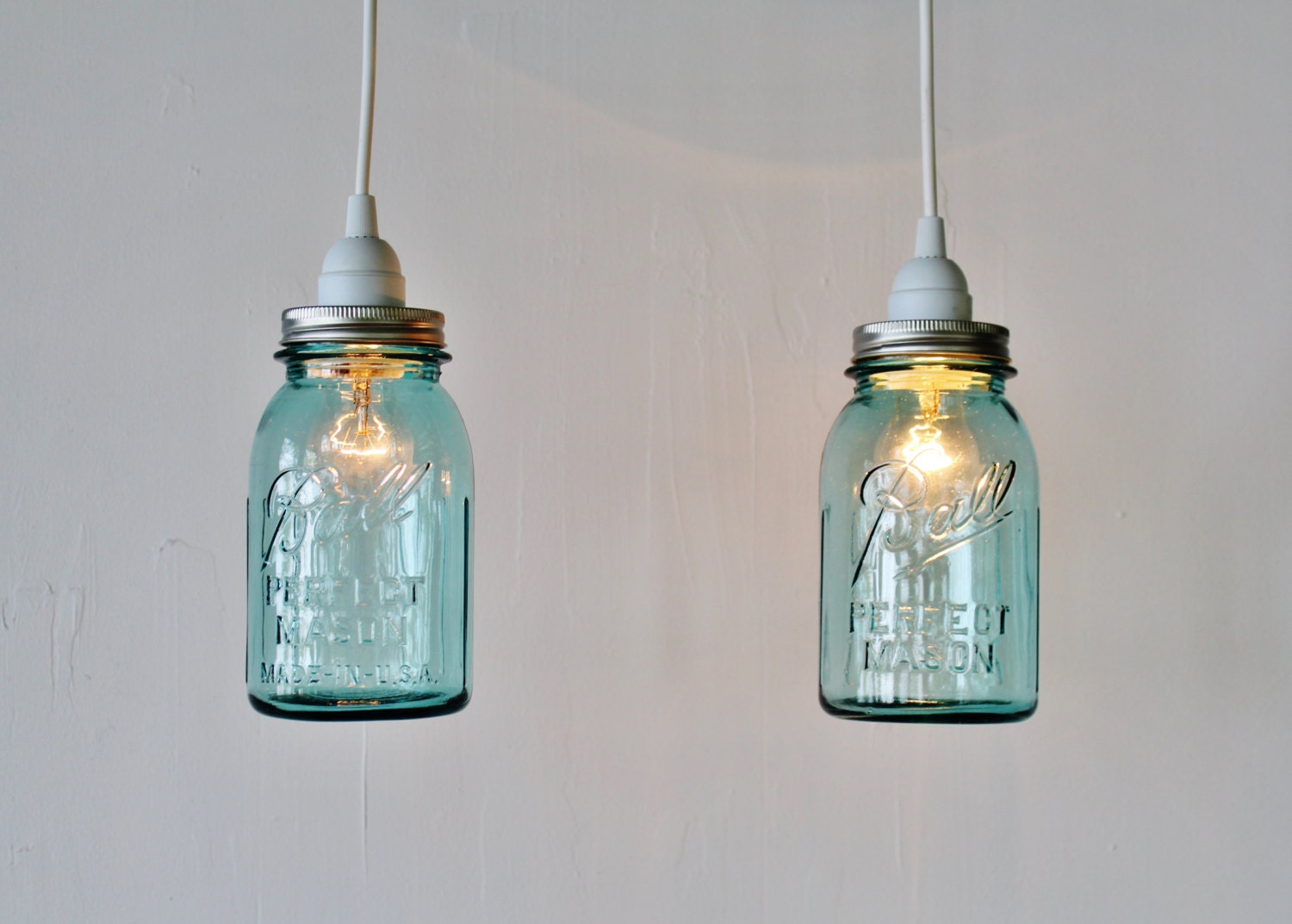 2 mason jar pendant lights pair of hanging pendant lamps with zoom mozeypictures Choice Image