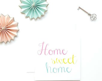 New Home card, Home Sweet Card, Moving Card, New House, Moving In Card, Congratulations card