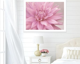 Pink Art Print, Pink Wall Decor, Pink Bedroom Art, Pink Dahlia Print, Pink Printable Art, Flower Art Print, Pink Photo, Pink Download