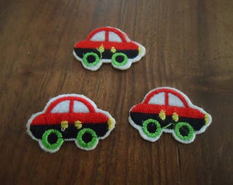 PATCH FUSIBLE - set of 3 cars
