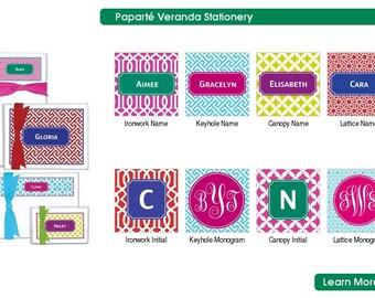 Foldover Notecards, Personalized