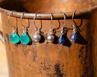 Simple single drop earrings