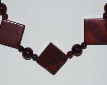 Necklace Red Jasper #616 One Of A Kind