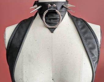 Navis Studded leather Choker