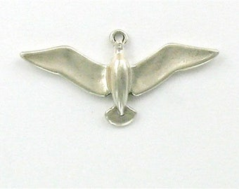 Sterling Silver 3-D Flying Sea Gull Charm