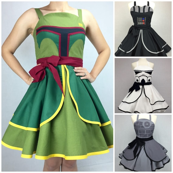 Star Wars Inspired Handmade Dress Full Circle Skirt Pin Up