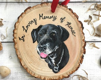 Custom Dog Portrait - Custom Dog Painting - Pet Portrait Custom - Dog Art - Pet Painting - Wood Ornament - Pet Ornament Personalized - Gifts