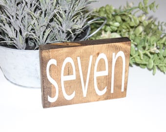 hand painted table numbers, double sided table numbers, wood table numbers, centerpeice, wedding, table decorations, wedding table numbers