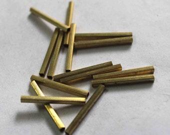 50 golden square tube shape  Sequins/100% Metal base/KBMS693