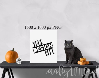 Mockup Mockups Square Design Halloween Cat Pumpkin Wall Blank Canvas Picture PNG Styled Stock Photo Set Skull Design Blank Canvas Frame Wall