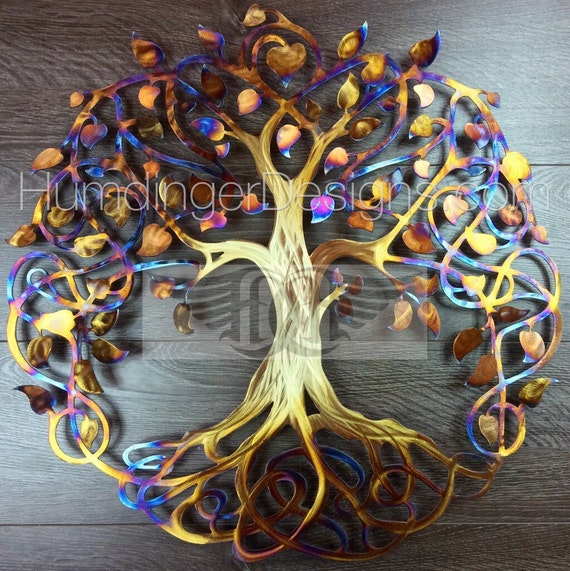 Large Metal Wall Art Stainless Steel Infinity Tree Of Life