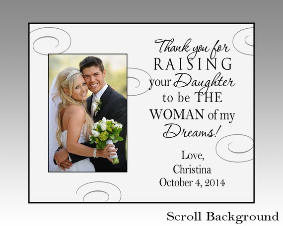 Thank you for raising your daughter, personalized wedding picture ...