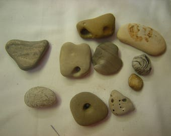 odd shaped stones-beach stones-stones with cavity-stones with holes-art-crafts-aquarium-terrarium-supplies-pacific coast-