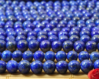 A grade-68 of  Lapis Lazuli smooth round beads in 5mm