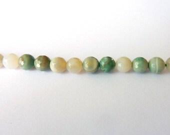 Amazonite faceted Ø 6 mm PCH0100 bead has individually gemstone gemstone semi precious