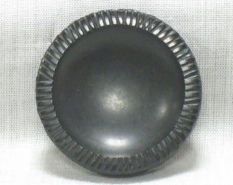 Diameter 35 mm, black, set of 3 vintage button