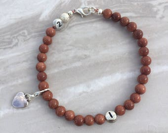 Goldstone weight loss tracker bracelet, slimming aid, weight loss, lifestyle aid, weight watchers, gift for her, goldstone bracelet, diet ai