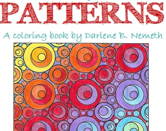 25 Coloring Pages, Geometric Patterns Coloring Book