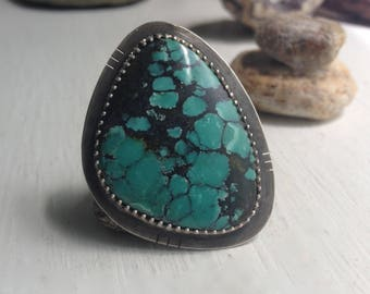 Turquoise Cloud Ring, size 7.5