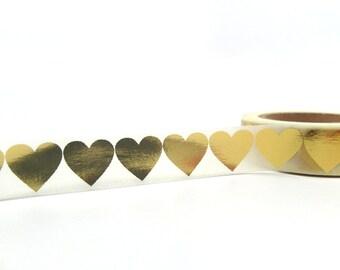 Goldenes Herz, Goldfolie Washi Tape, Gold Geschenkpapier Band