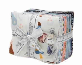 SPRING SALE - Fat Quarter Bundle (24) - Wild Free - Abi Hall - Moda Fabric