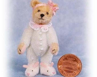Bunny-Hausschuhe Bär Miniatur-Teddy-Bär-Kit - Muster - von Emily Landwirt