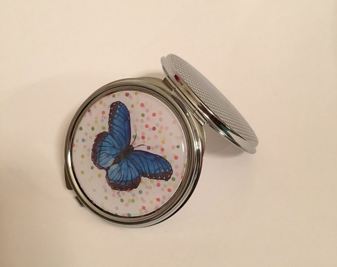 Blue Butterfly, Compact Mirror