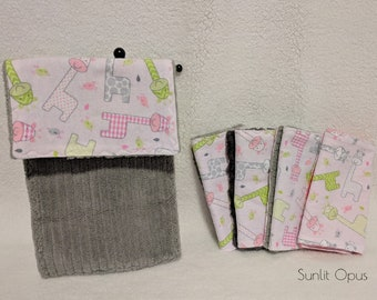 Pink and Great Baby Burp Cloths