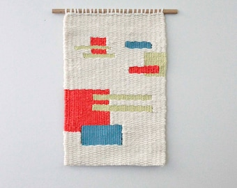 Woven Wall Hanging, Modern Wall Weaving, Woven Tapestry , Spring Decor, Contemporary Wall Art, Modern Craft, Contemporary Craft, Woven Art