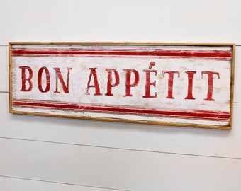 Bon Appetit Sign French Country Decor Kitchen Wall Decor French Cafe Sign French Kitchen Sign Bon Appetit Wall Art Kitchen Wall Art