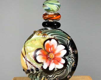 NEW! Flower Focal Lampwork Glass Bead Set - Contemporary Collection