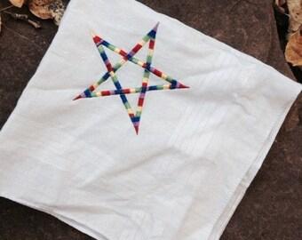 Rainbow Pentagram Handkerchief
