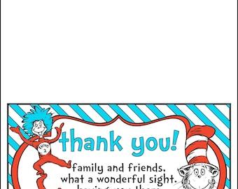 Thank You Cards Dr. Seuss Theme PRINTABLE