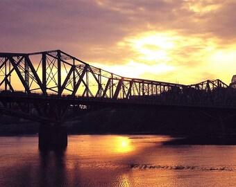 Ottawa Quebec Gatineau Hull Alexandria Bridge at Sunset
