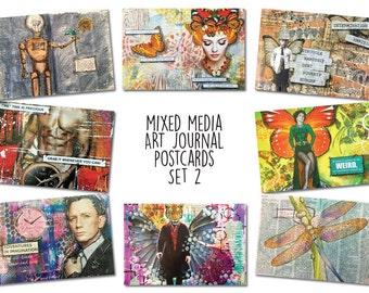 Art Journal Postcards (Set 2)