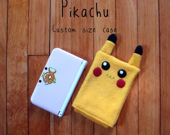 JULY PREORDER 3ds XL Case / Custom Size Pokemon Pikachu pouch carrying case new 3ds / 3ds xl / nintendo switch / psp vita holder cozy