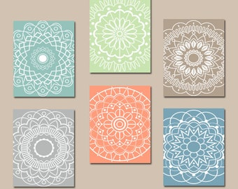 Kitchen Wall Art, Mandala Decor, CANVAS Or Prints, Medallion Bedroom Wall  Decor,