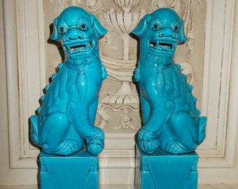 Vintage Pair of Chinese Foo-dogs, or ''Shi''