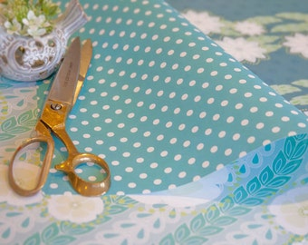 Willow gift wrap - fresh blues