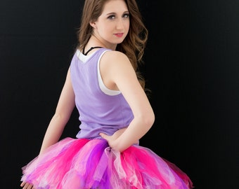 Running Tutu - Race Tutu - Adult Tutu -Pink/Purple Tutu - Neon Run - Color Run Tutu -  Marathon Tutu - 5K Tutu - Tutu - Fun Run Tutu -